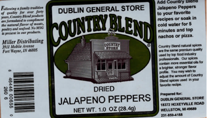 Picture of Dried Jalapeno Peppers 1 oz