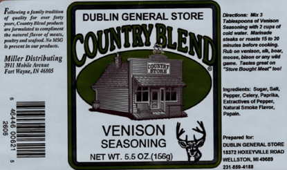 Picture of Venison Seasoning 5.5 oz